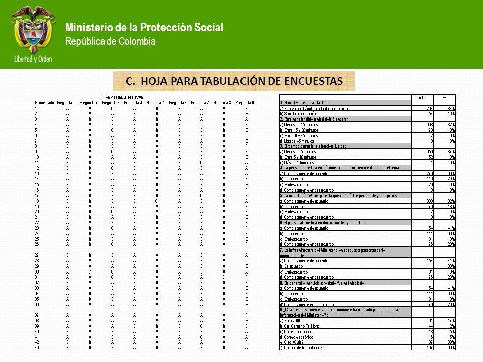 C. HOJA PARA TABULACIÓN DE ENCUESTAS