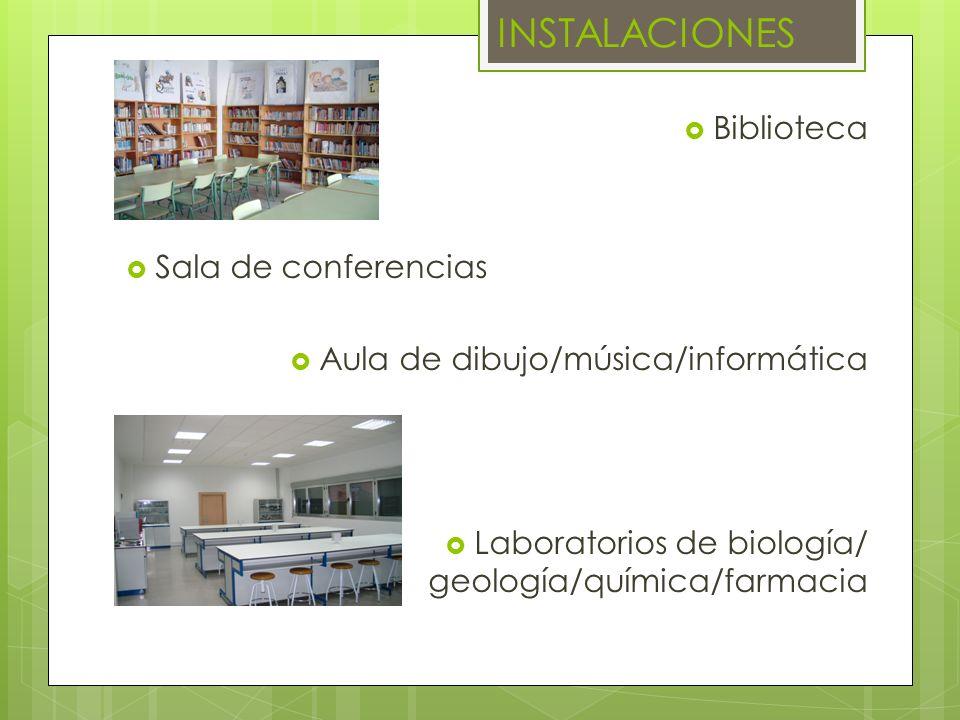INSTALACIONES Biblioteca Sala de conferencias