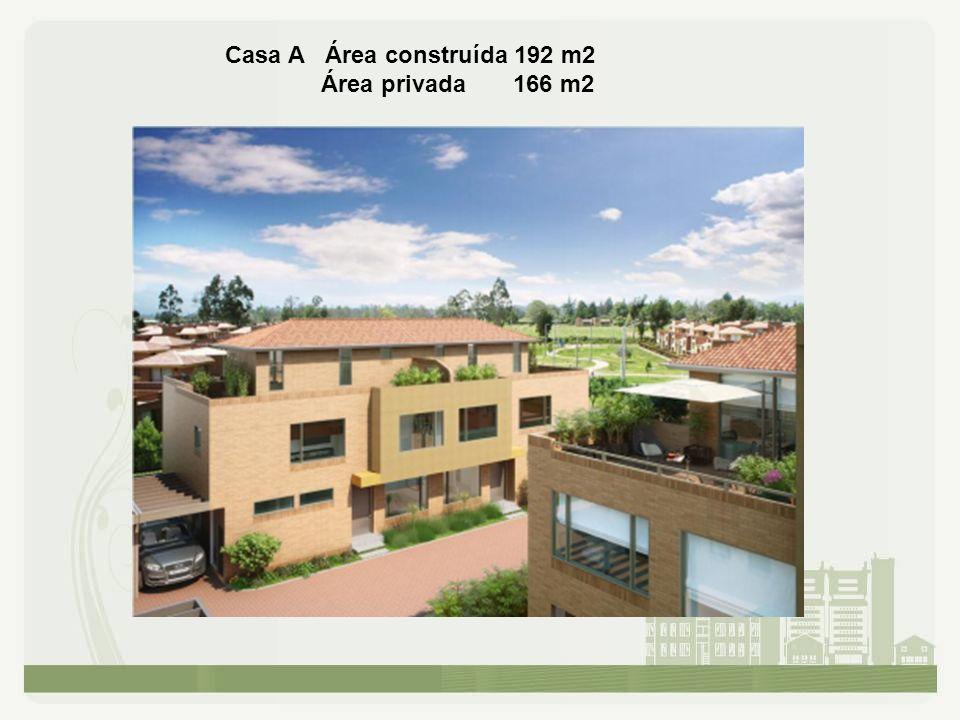 Casa A Área construída 192 m2