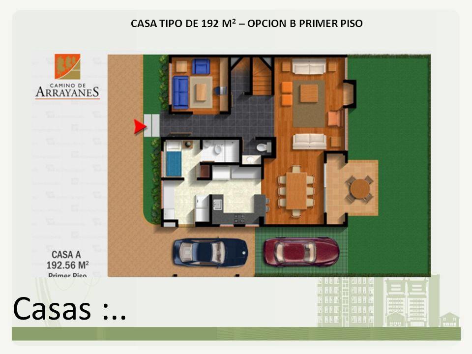 CASA TIPO DE 192 M2 – OPCION B PRIMER PISO