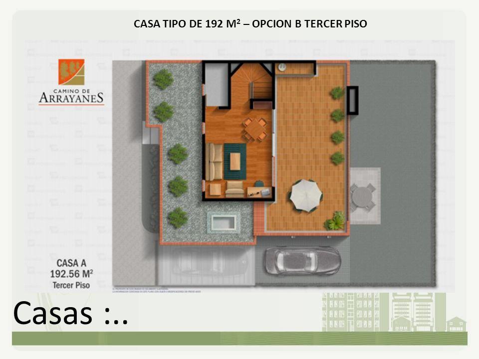 CASA TIPO DE 192 M2 – OPCION B TERCER PISO
