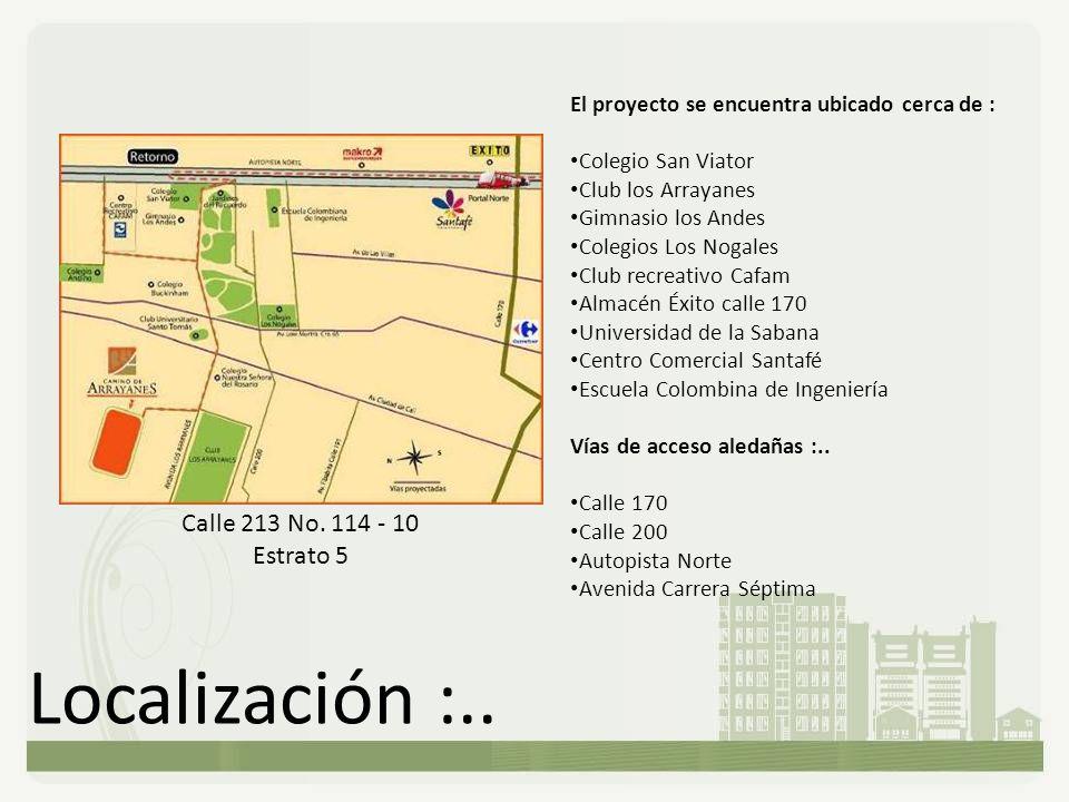 Localización :.. Calle 213 No. 114 - 10 Estrato 5