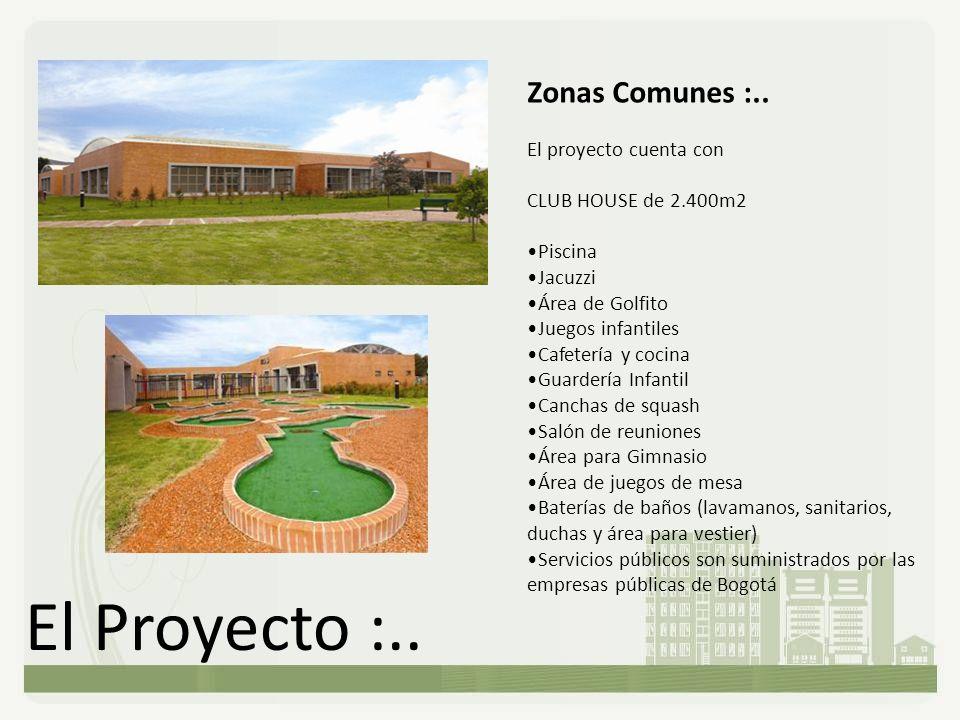 El Proyecto :.. Zonas Comunes :.. El proyecto cuenta con