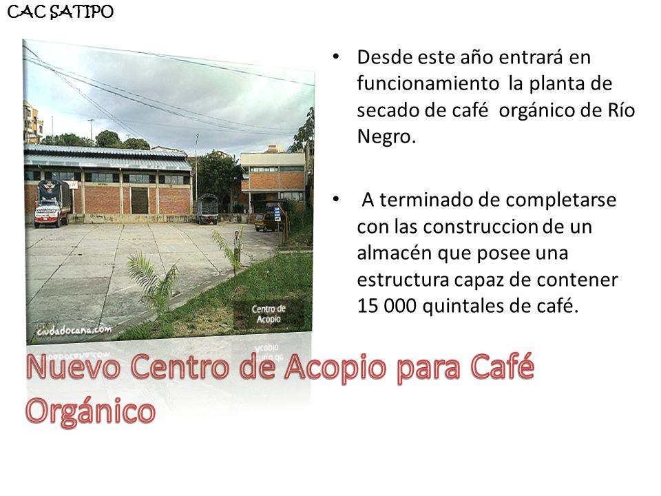 Nuevo Centro de Acopio para Café Orgánico