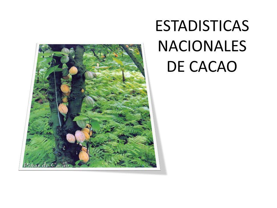 ESTADISTICAS NACIONALES DE CACAO