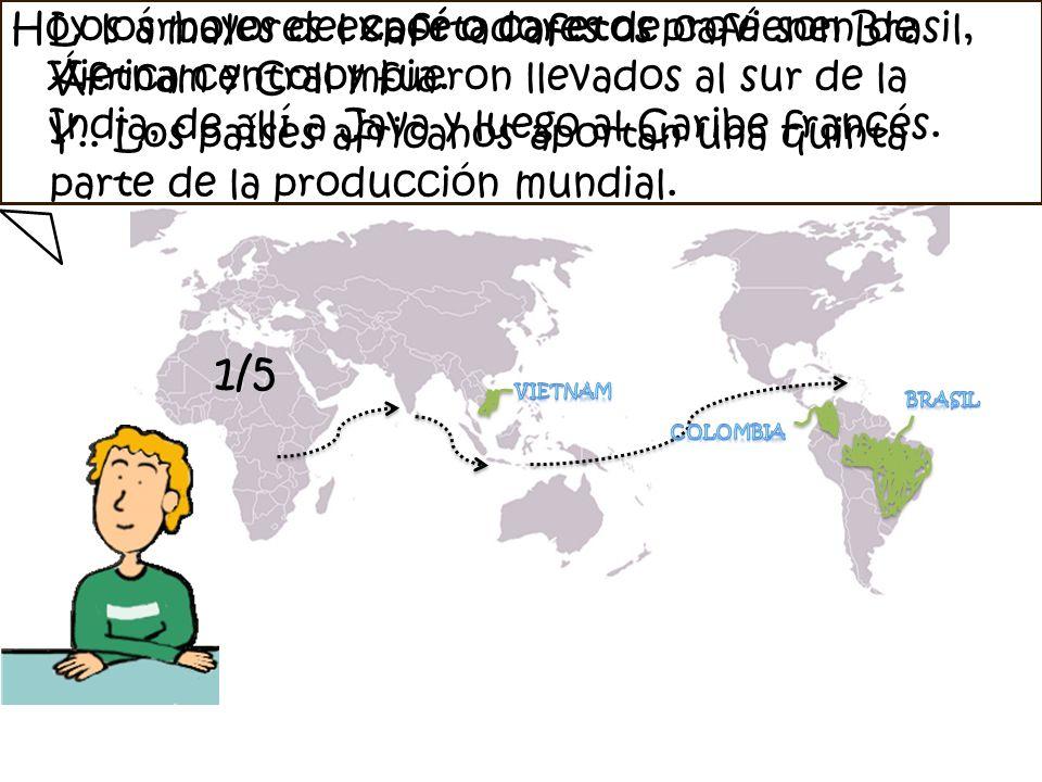 Hoy los mayores exportadores de café son Brasil, Vietnam y Colombia.