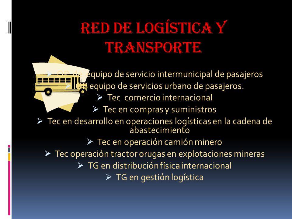 Red de logística y transporte