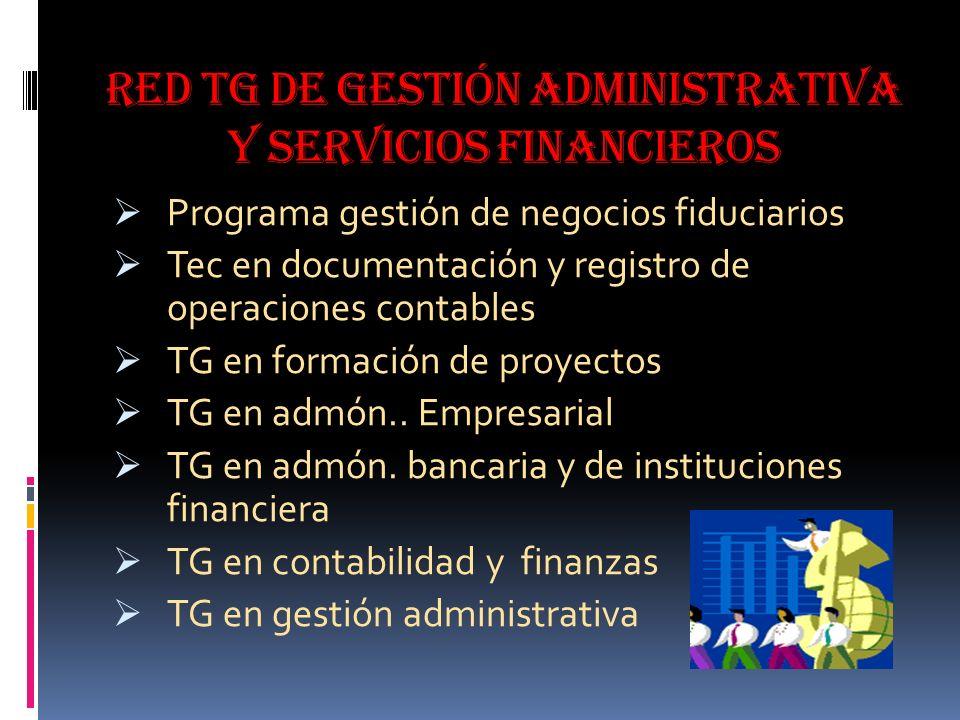 Red tg de gestión administrativa y servicios financieros