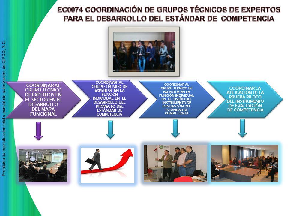 EC0074 COORDINACIÓN DE GRUPOS TÉCNICOS DE EXPERTOS PARA EL DESARROLLO DEL ESTÁNDAR DE COMPETENCIA