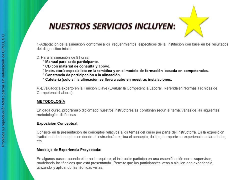 NUESTROS SERVICIOS INCLUYEN:
