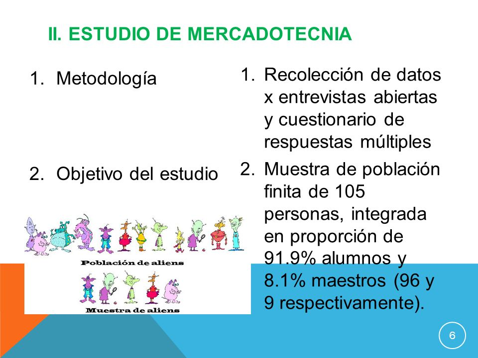 ii. ESTUDIO DE MERCADOTECNIA