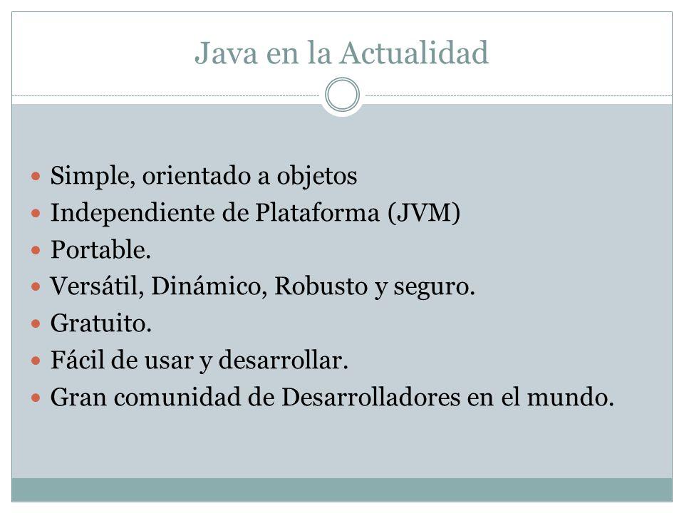 Java en la Actualidad Simple, orientado a objetos
