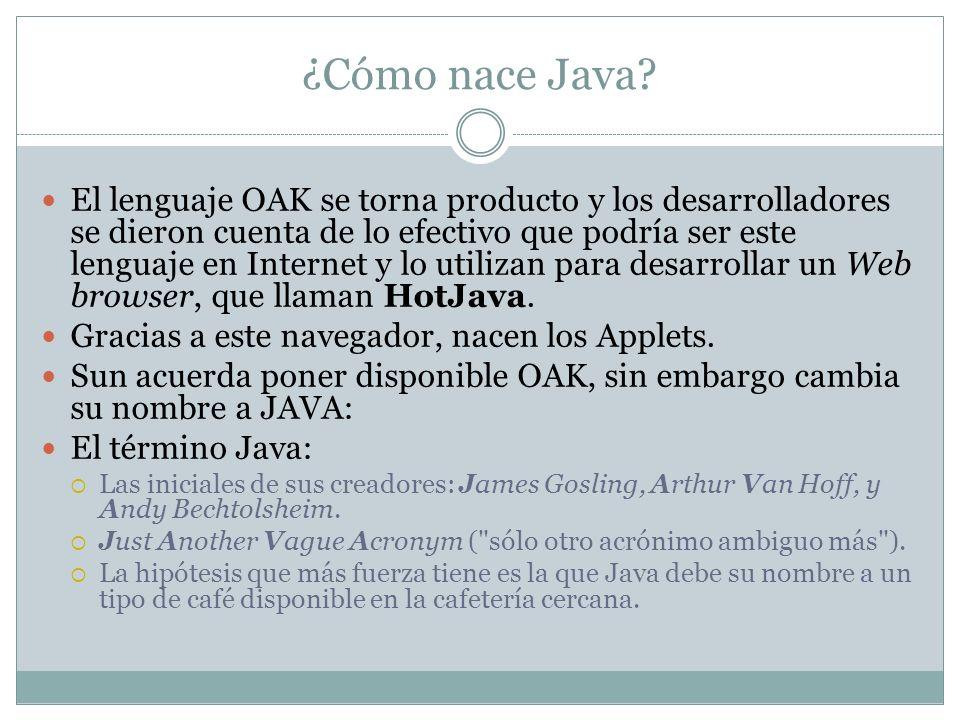 ¿Cómo nace Java