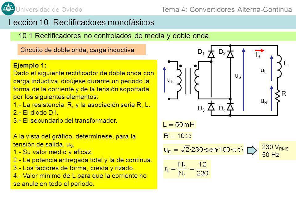 Lección 10: Rectificadores monofásicos