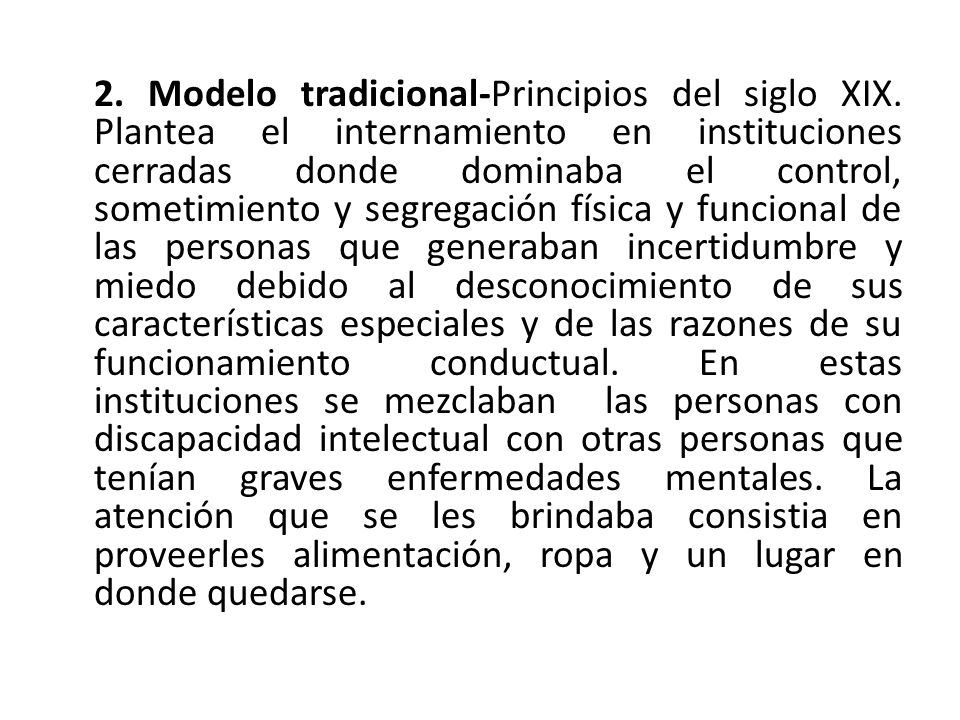 2. Modelo tradicional-Principios del siglo XIX