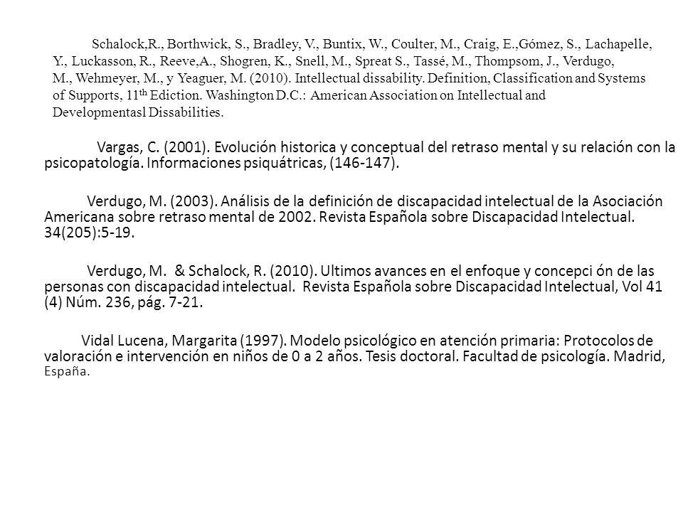 Schalock,R. , Borthwick, S. , Bradley, V. , Buntix, W. , Coulter, M