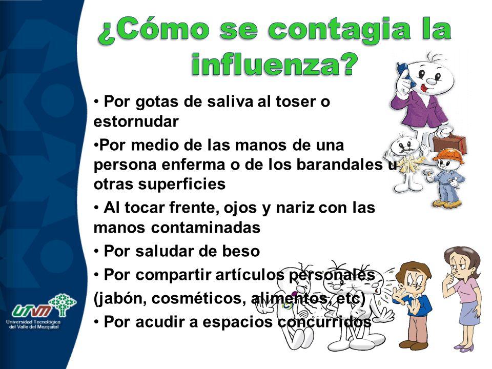 ¿Cómo se contagia la influenza