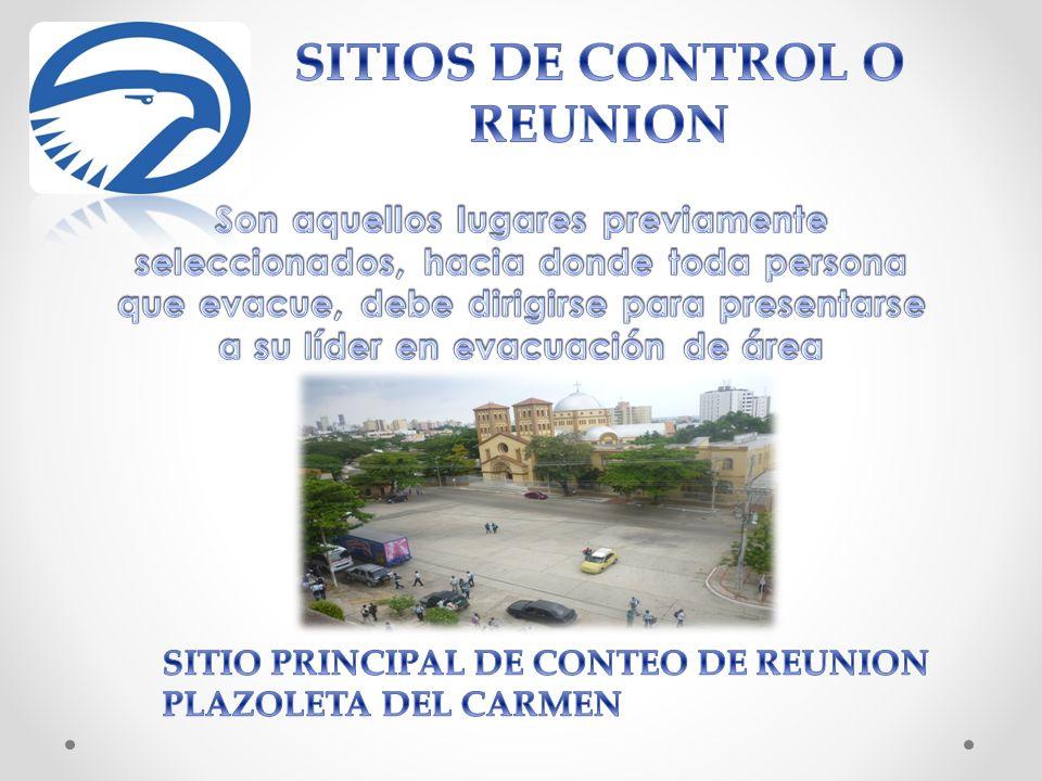 SITIOS DE CONTROL O REUNION