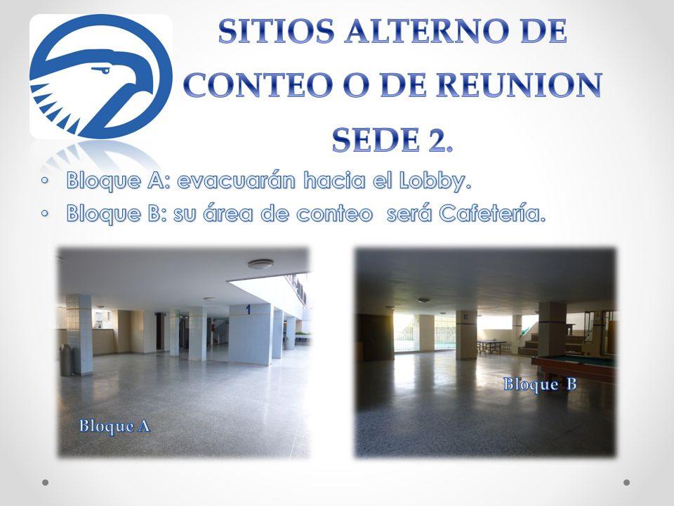 SITIOS ALTERNO DE CONTEO O DE REUNION SEDE 2.