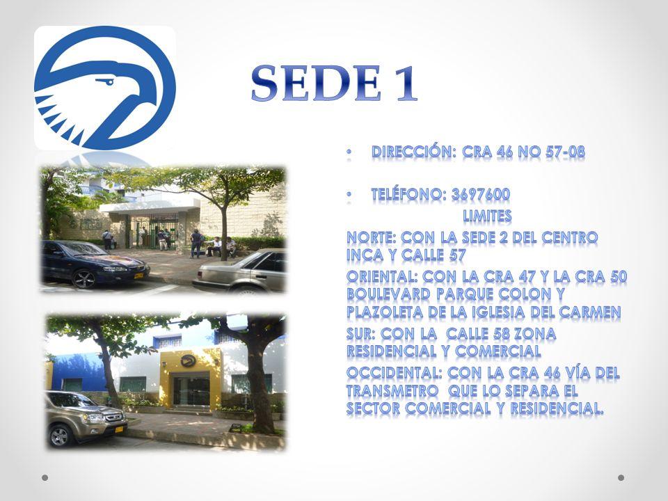 SEDE 1 Dirección: CRA 46 No 57-08 Teléfono: 3697600 LIMITES