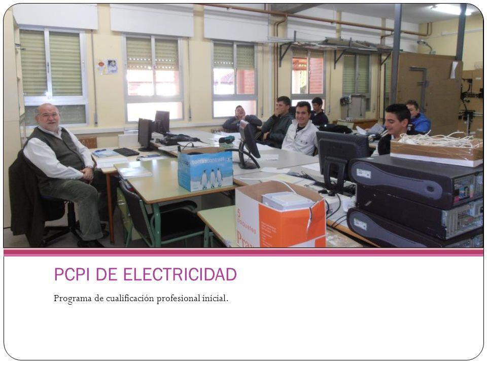 PCPI DE ELECTRICIDAD Programa de cualificación profesional inicial.