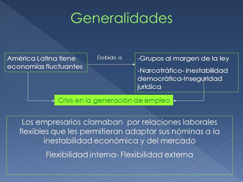 Generalidades América Latina tiene economías fluctuantes. Debido a. Grupos al margen de la ley.