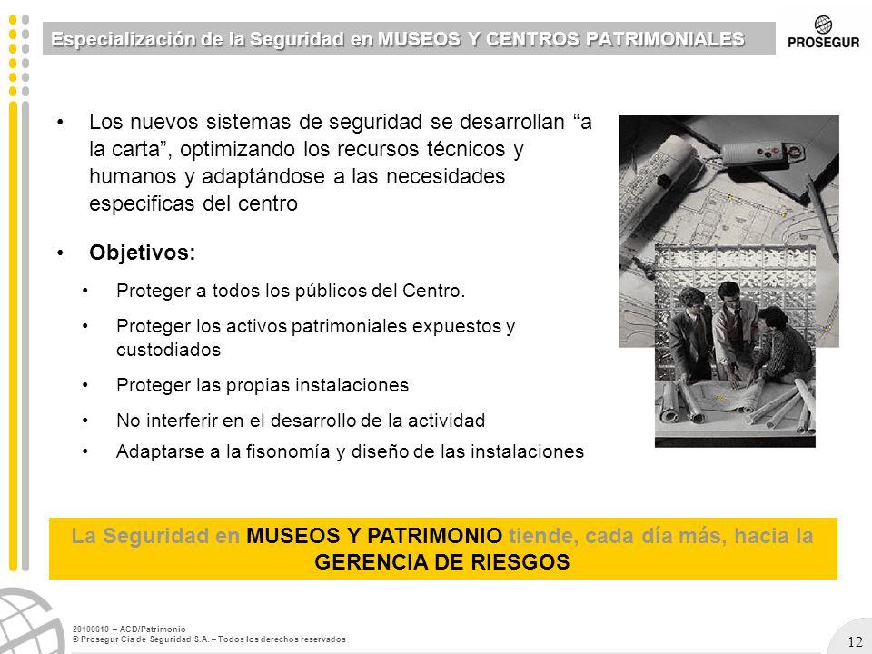 Especialización de la Seguridad en MUSEOS Y CENTROS PATRIMONIALES