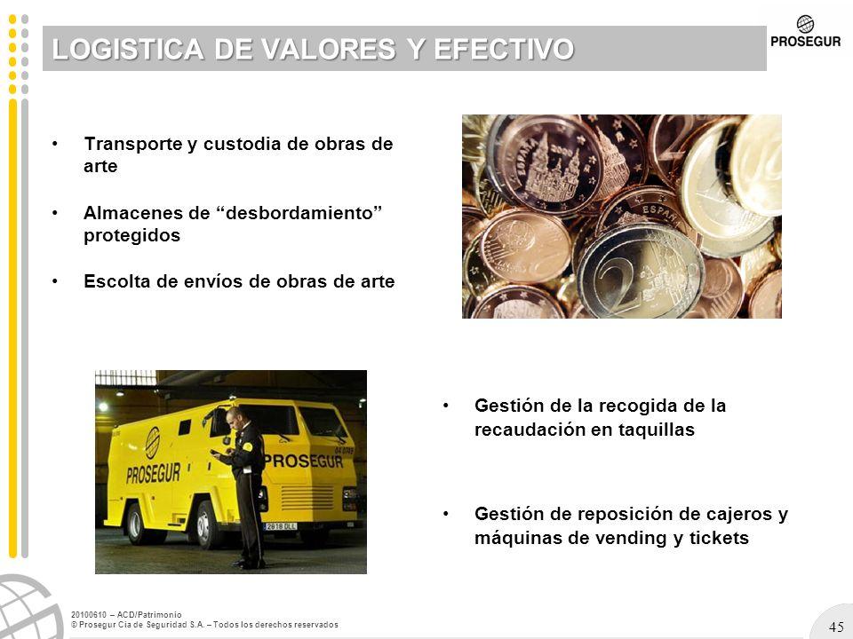 LOGISTICA DE VALORES Y EFECTIVO