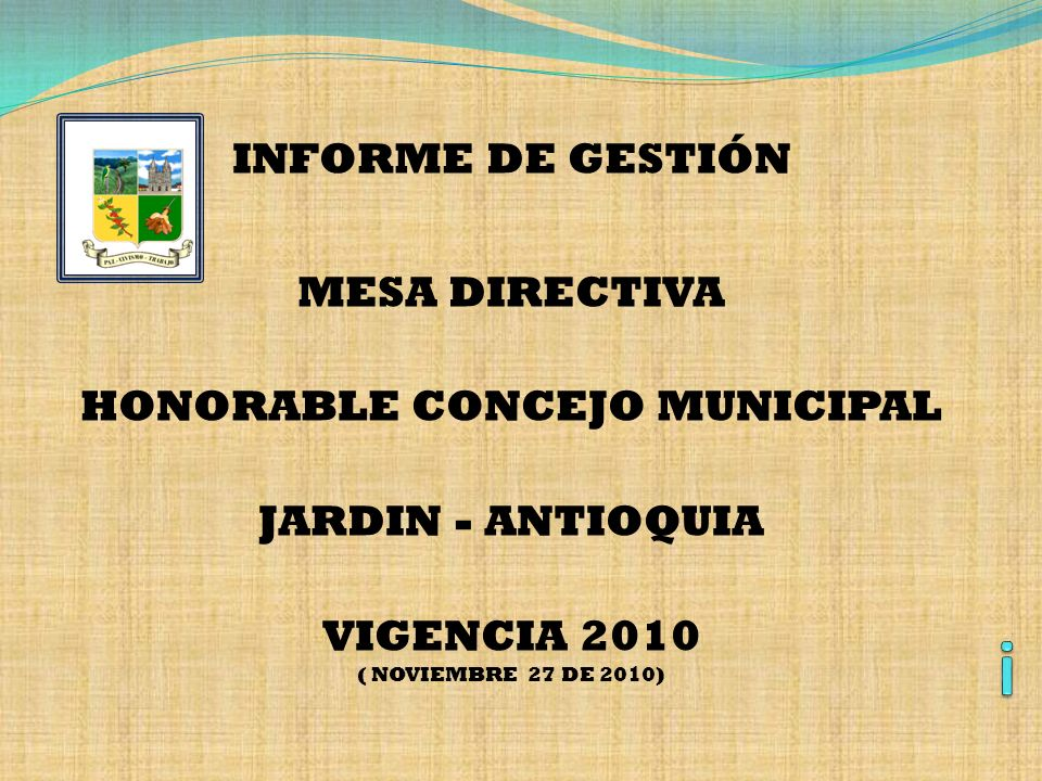 HONORABLE CONCEJO MUNICIPAL