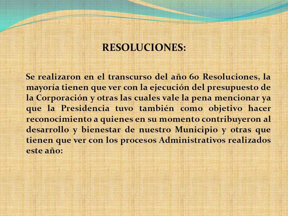 RESOLUCIONES: