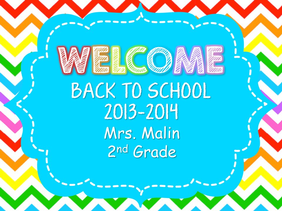 Mrs. Malin 2nd Grade