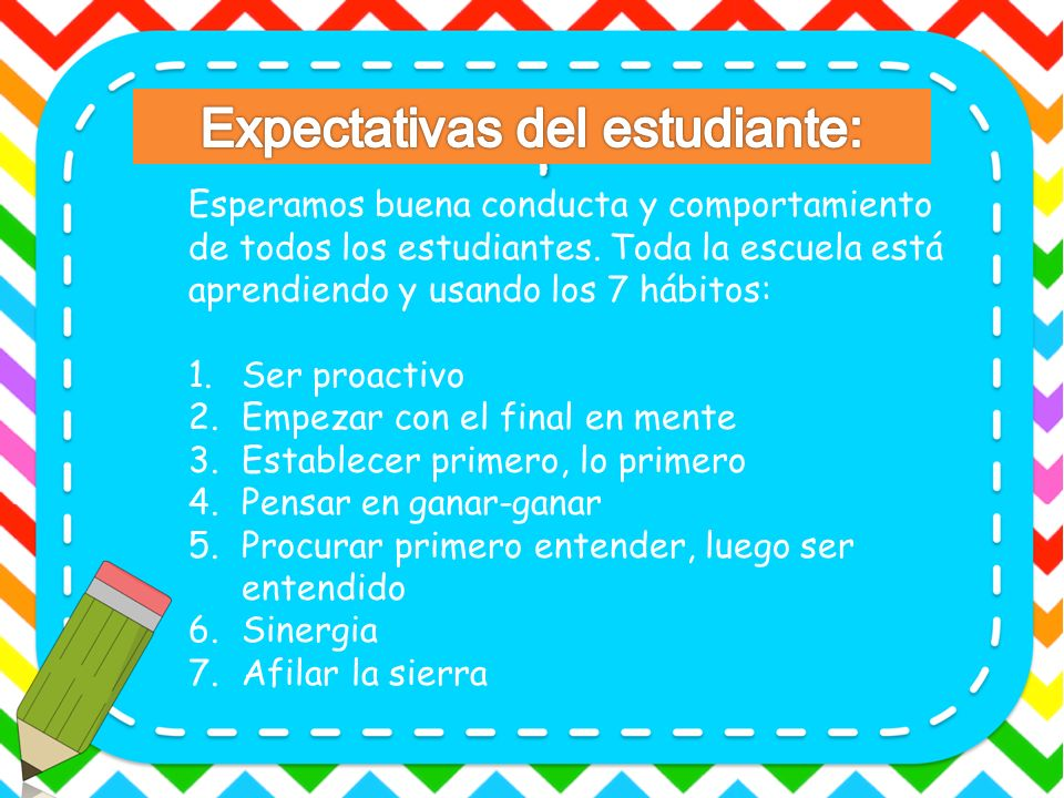 Expectativas del estudiante: