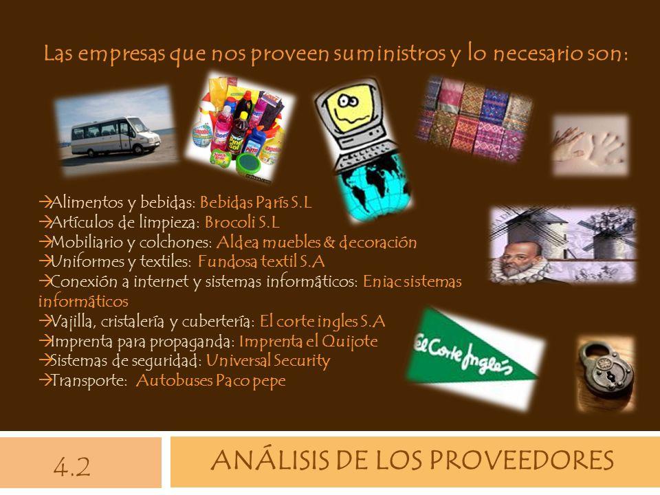 ANÁLISIS DE LOS PROVEEDORES