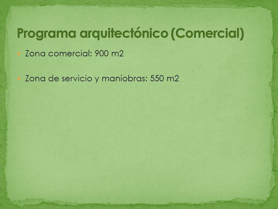 Programa arquitectónico (Comercial)
