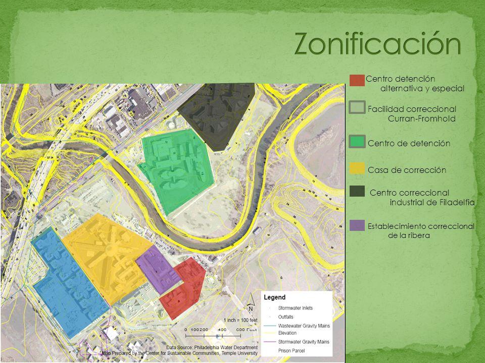 Zonificación Centro detención alternativa y especial