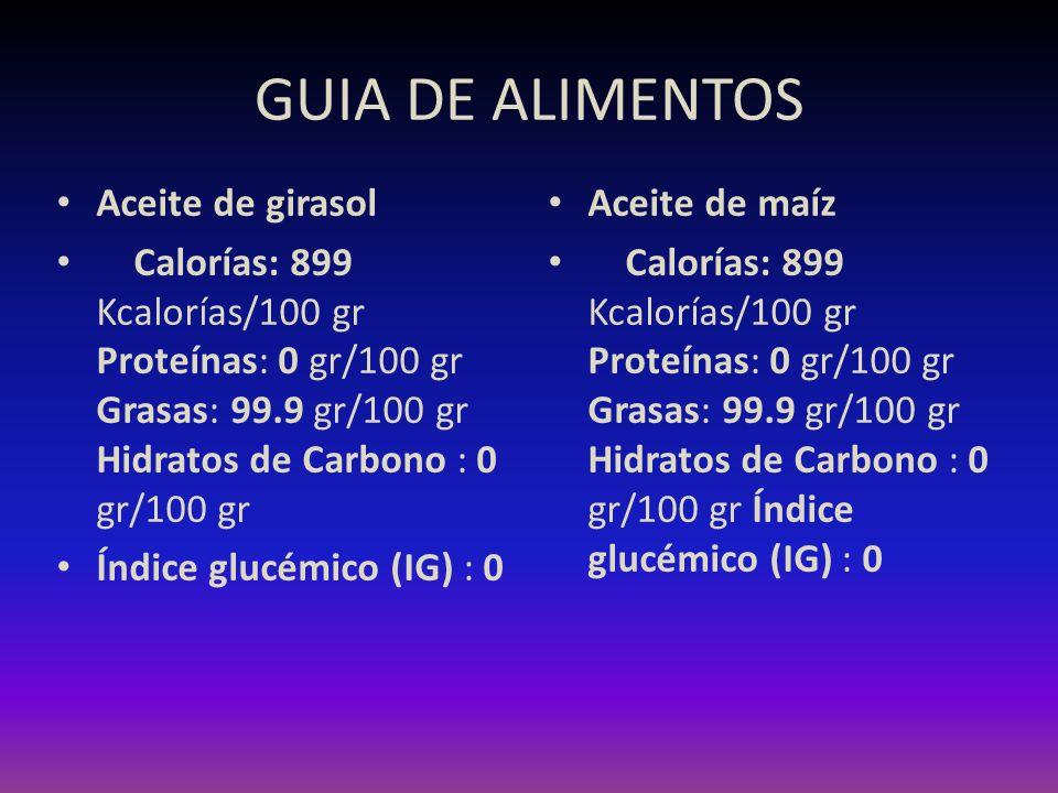 GUIA DE ALIMENTOS Aceite de girasol
