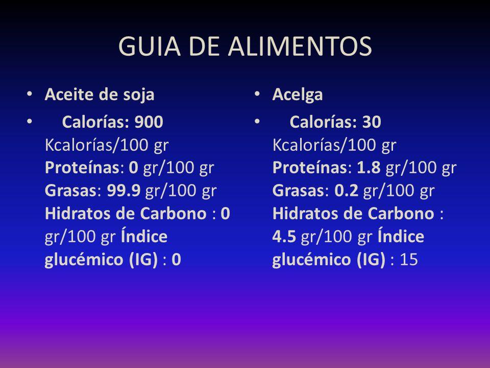 GUIA DE ALIMENTOS Aceite de soja