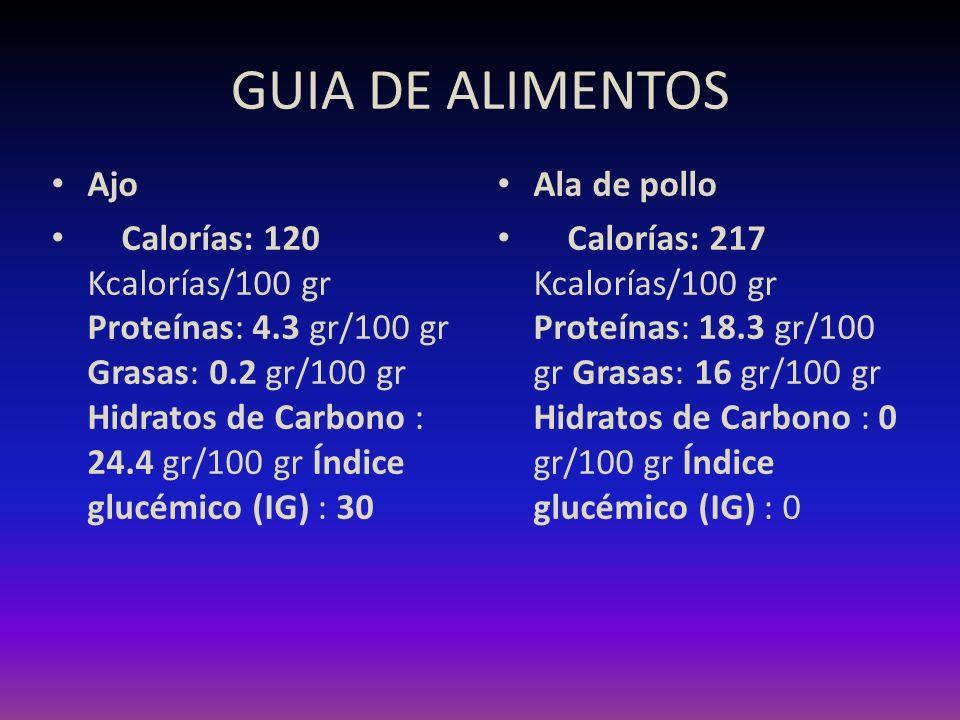 GUIA DE ALIMENTOS Ajo.