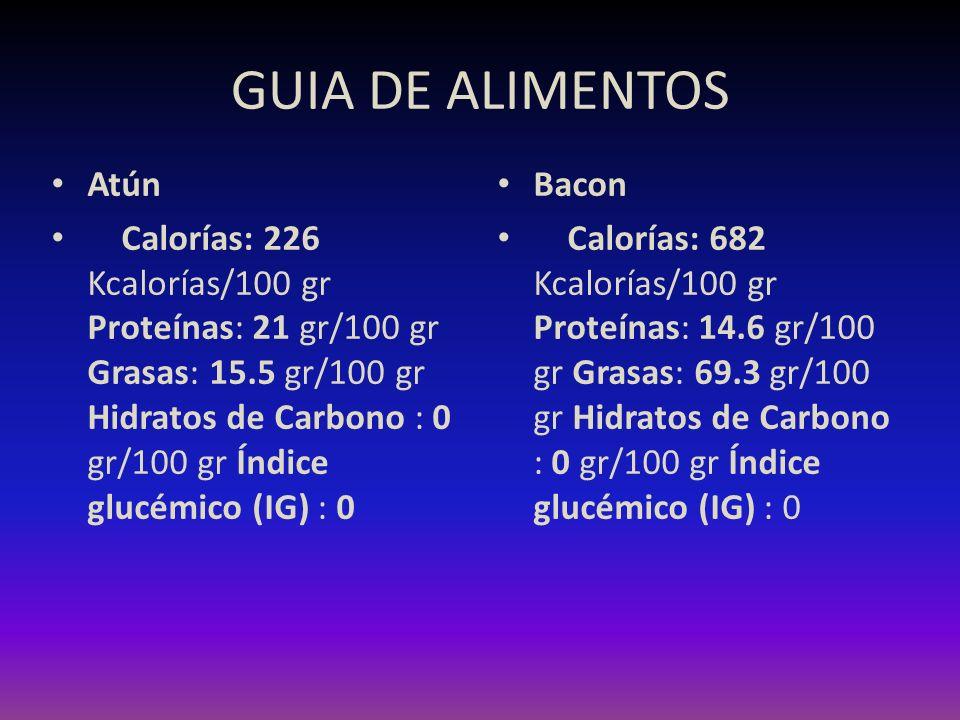 GUIA DE ALIMENTOS Atún.