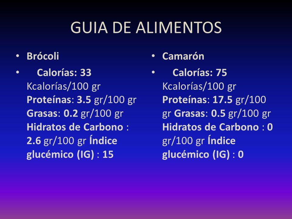 GUIA DE ALIMENTOS Brócoli