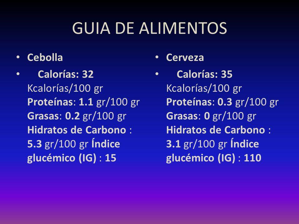 GUIA DE ALIMENTOS Cebolla
