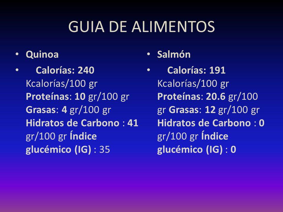 GUIA DE ALIMENTOS Quinoa