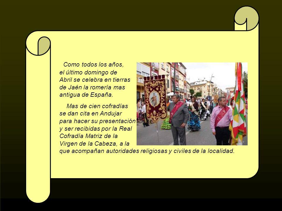 Como todos los años, el último domingo de Abril se celebra en tierras de Jaén la romería mas antigua de España.
