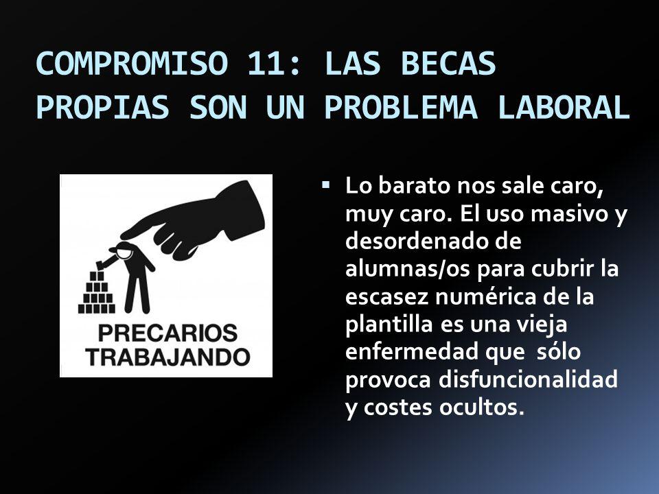 COMPROMISO 11: LAS BECAS PROPIAS SON UN PROBLEMA LABORAL