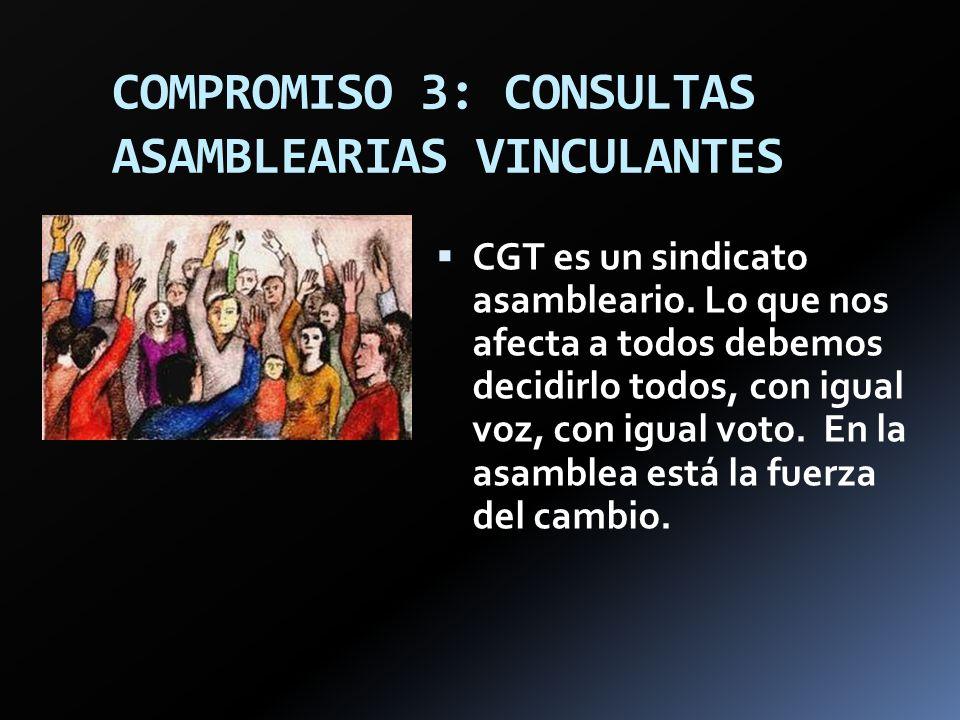 COMPROMISO 3: CONSULTAS ASAMBLEARIAS VINCULANTES