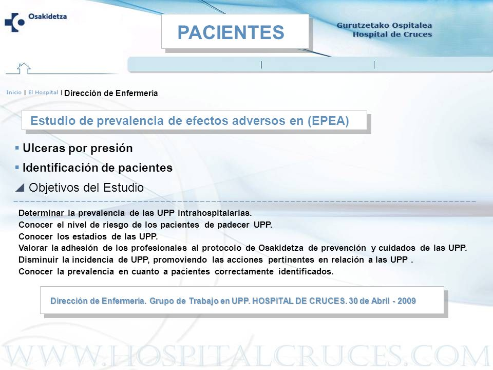 PACIENTES Estudio de prevalencia de efectos adversos en (EPEA)