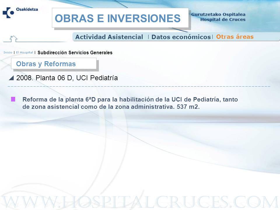 OBRAS E INVERSIONES Obras y Reformas 2008. Planta 06 D, UCI Pediatría