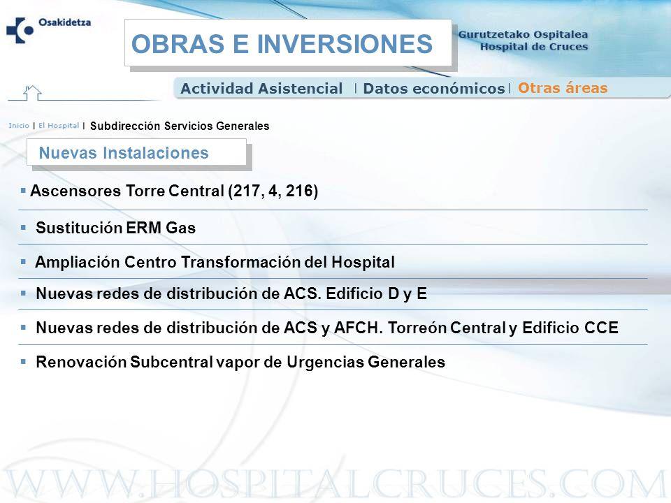 OBRAS E INVERSIONES Nuevas Instalaciones