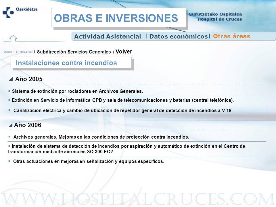 OBRAS E INVERSIONES Instalaciones contra incendios Año 2005