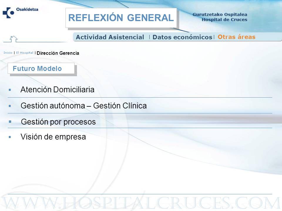 REFLEXIÓN GENERAL Gestión por procesos Futuro Modelo